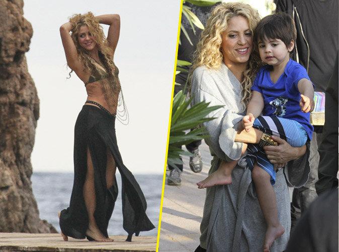 Shakira envo�tante en tournage, elle reste une maman au top !