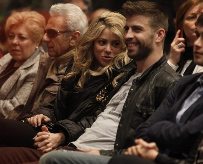 Shakira et Gerard Piqué le 14 mars 2013 à Barcelone