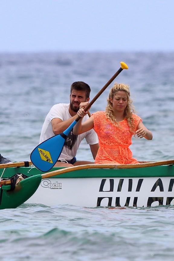 Shakira et Gerard Piqué en vacances à Hawaï le 23 juillet 2013