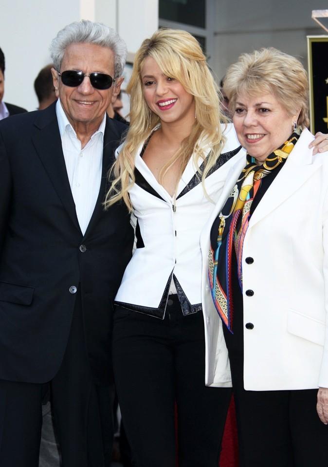 Shakira et ses parents !