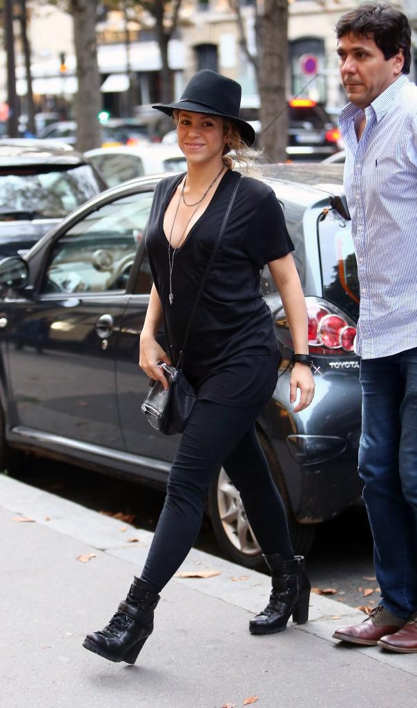 Shakira à Paris le 29 septembre 2014
