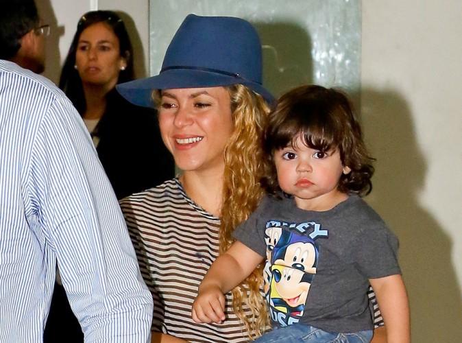 Shakira : pr�te � cl�turer le Mondial 2014 en chanson, elle d�barque � Rio avec son petit Milan !
