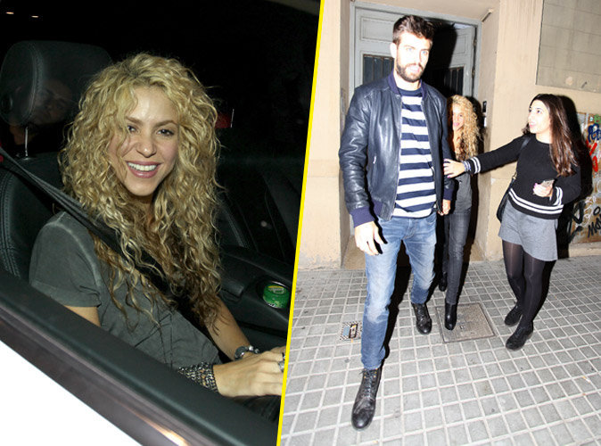 Shakira souriante, elle embarque G�rard Piqu� dans ses projets !
