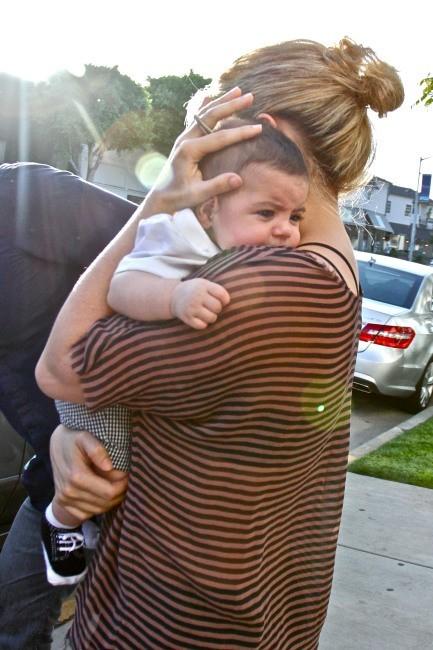 Shakira et Milan le 25 mai 2013 à Los Angeles
