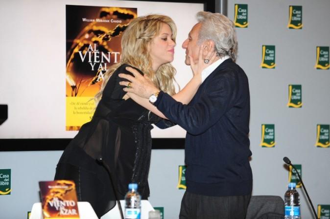 Shakira et son père le 14 janvier 2013 à Barcelone