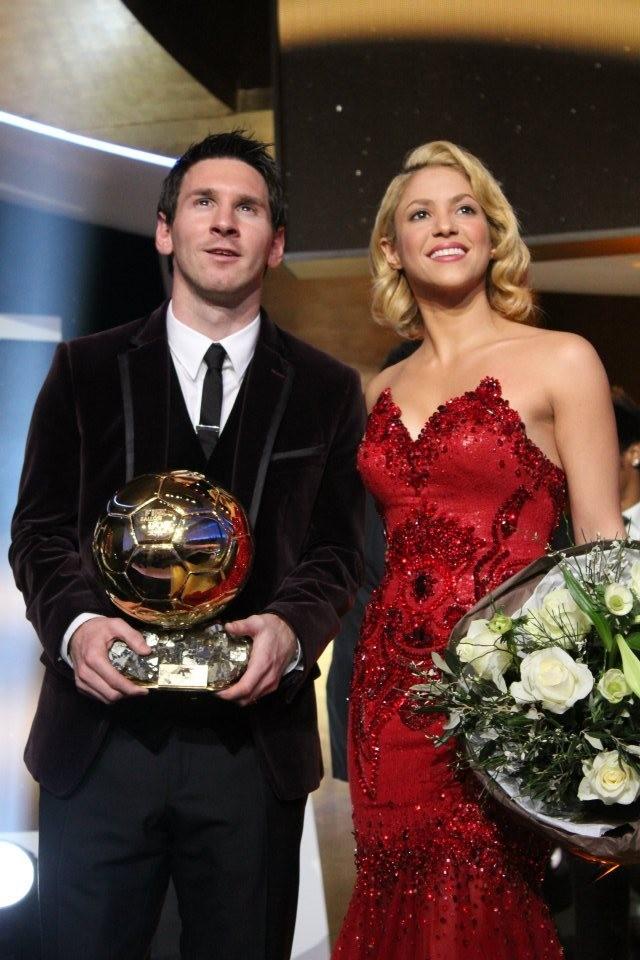 Shakira et Lionel Messi lors du Gala FIFA Ballon d'Or 2011 à Zurich, le 9 janvier 2012.
