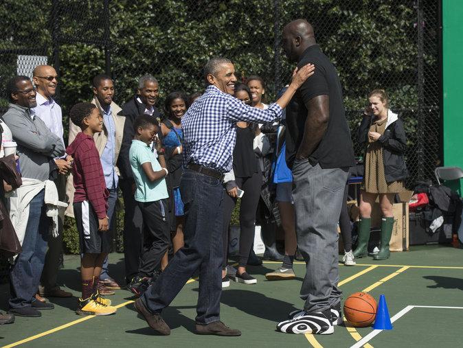 Shaquille O'Neal et Barack Obama