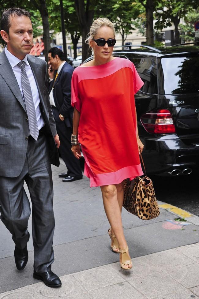 Sharon Stone le 29 juin 2012 à Paris