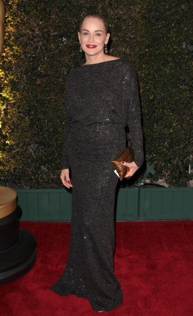 Sharon Stone lors du 3e dîner annuel des Academy's Governors Award à Hollywood, le 13 novembre 2011.