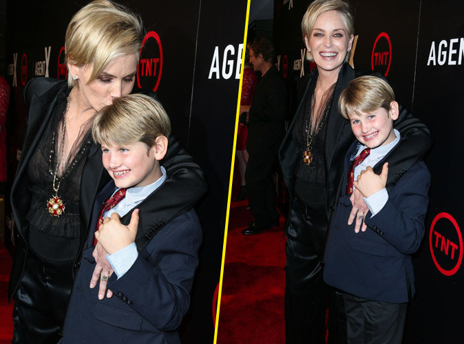 Sharon Stone et son fils à Hollywood le 20 octobre 2015