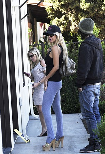 Shauna Sand et son boyfriend à Los Angeles le 18 avril 2013