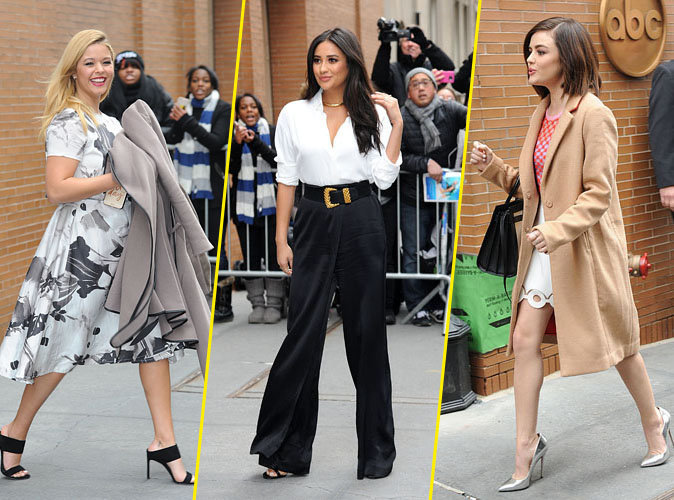 Photos : Shay, Lucy, Ashley, Sasha et Troian : le casting de Pretty Little Liars continue son défilé de mode en promo à New York