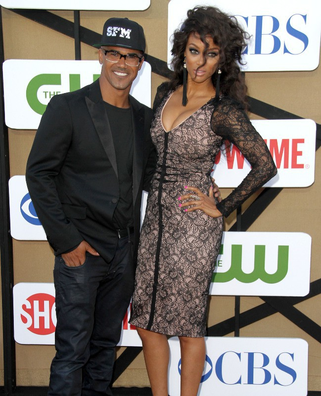 Shemar Moore et Tyra Banks lors de la soirée CW, CBS and Showtime 2013 Summer TCA Party à Beverly Hills, le 29 juillet 2013.