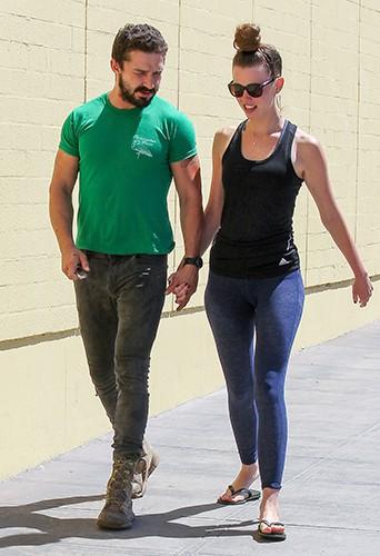 Shia LaBeouf et Mia Goth à Los Angeles le 22 août 2014