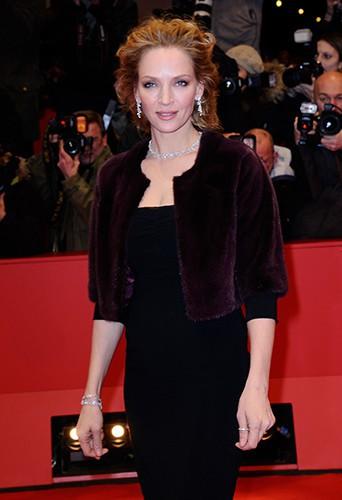 Uma Thurman à Berlin le 9 février 2014
