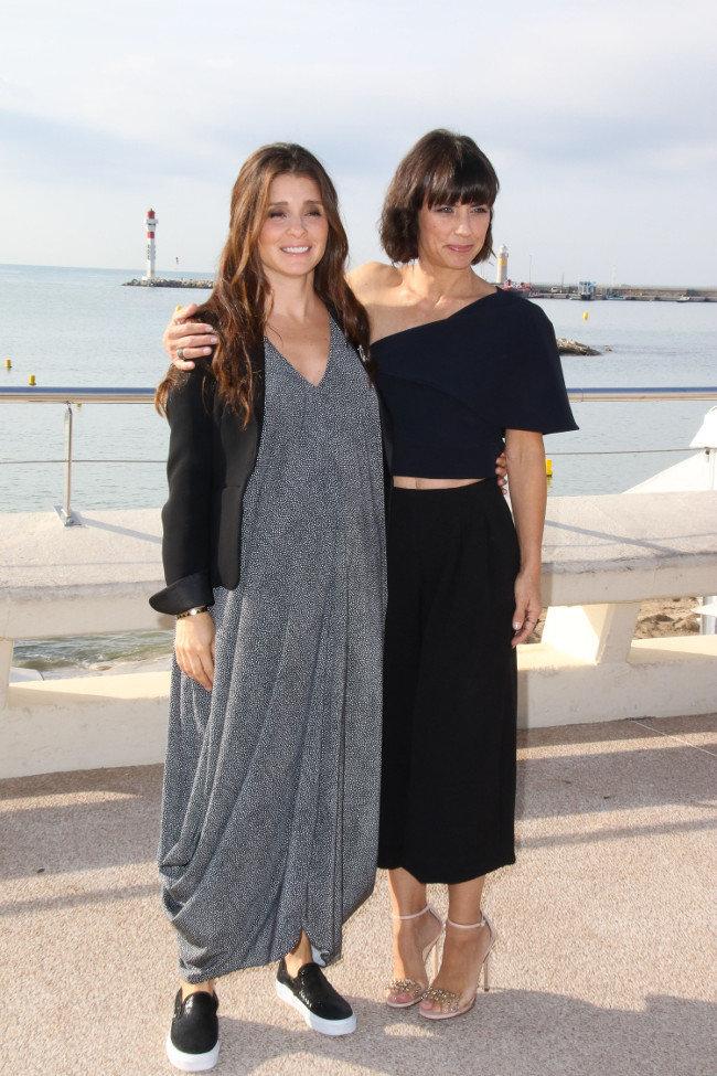 Shiri Appleby et Constance Zimmer à Cannes le 5 octobre 2015
