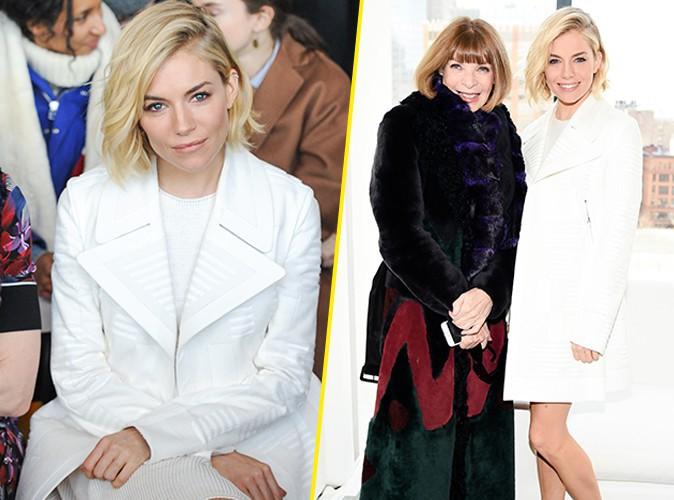 Sienna Miller : canon en blanc pour Calvin Klein, Anna Wintour valide !