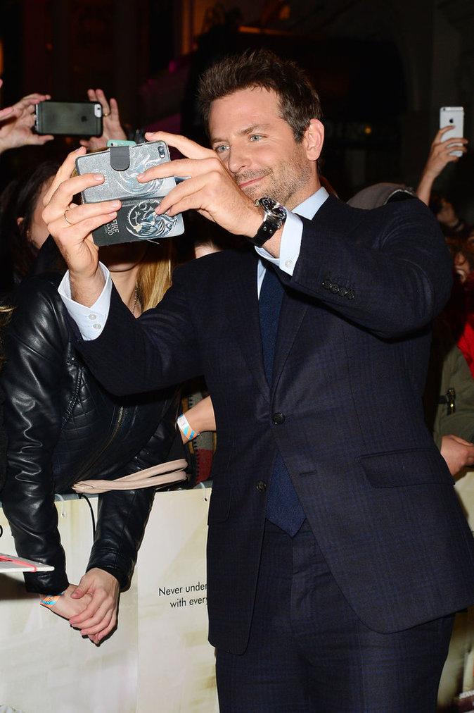 Sienna Miller et Bradley Cooper à Londres le 28 octobre 2015