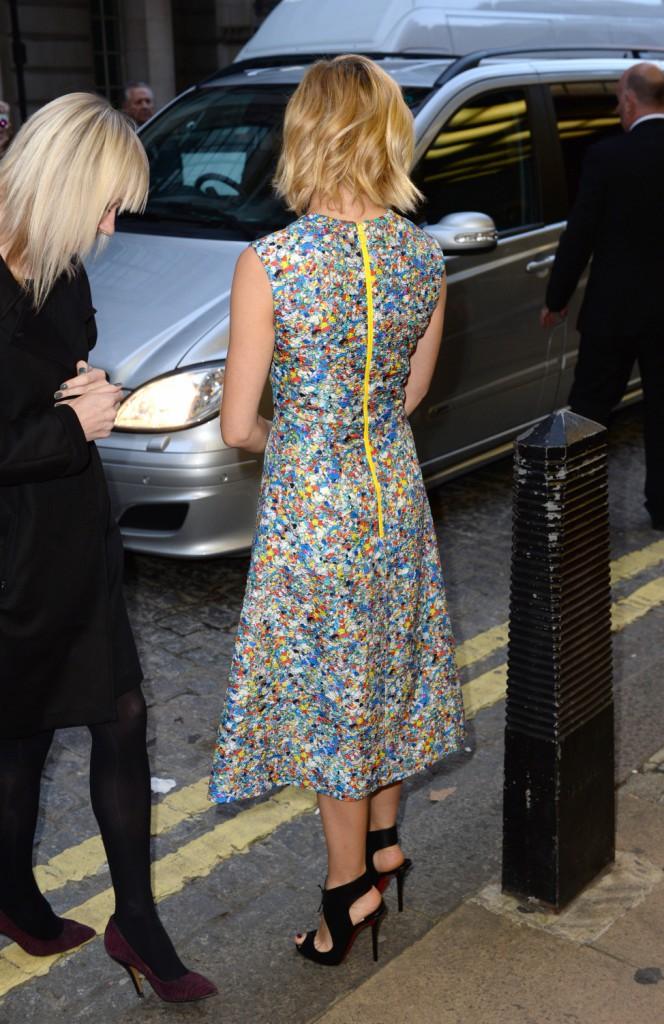Sienna Miller à Londres le 5 octobre 2014