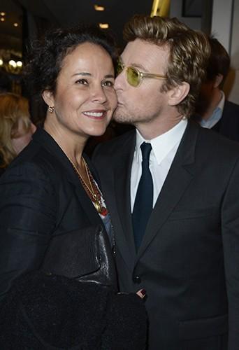 Simon Baker et sa femme à Paris le 8 avril 2013