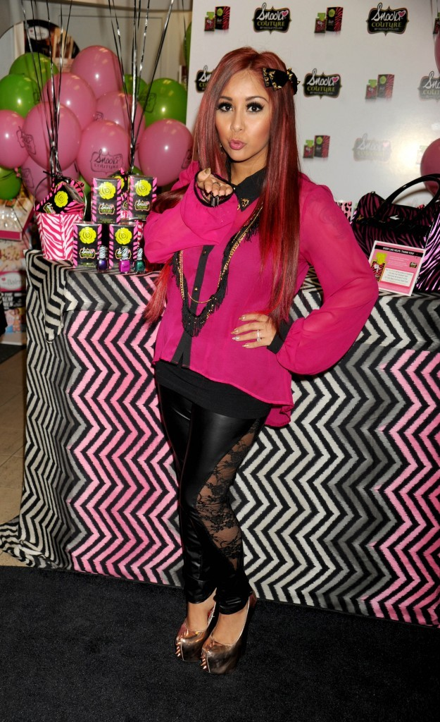 Snooki à New-York pour la promotion de son parfum Snooki Couture le 23 novembre 2012