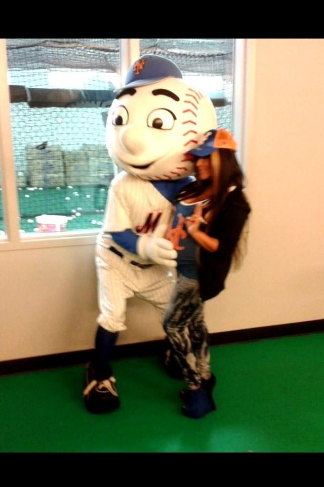 Snooki et la mascotte des Mets