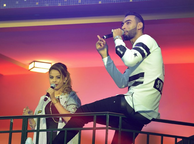 La Fouine et Sindy à la NRJ Pool Party à Paris, le 20 mai 2015