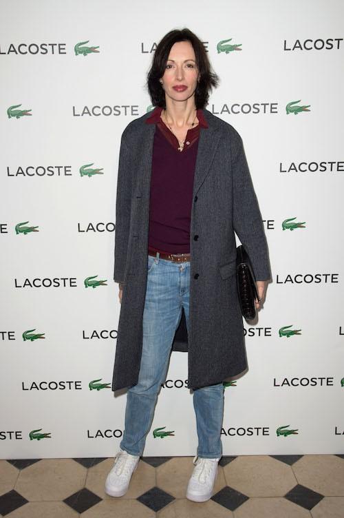 Géraldine Maillet à la soirée Lacoste à Paris, le 22 janvier 2014
