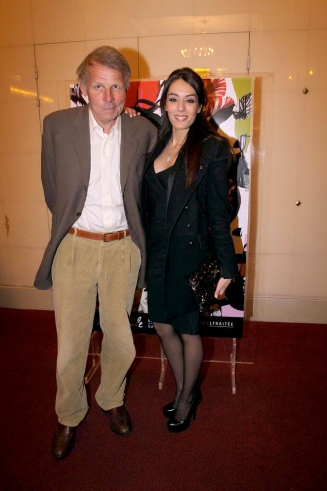 Patrick Poivre d'Arvor et Sofia Essaïdi lors du gala pour l'association Enfance Majuscule à Paris, le 5 mars 2012.