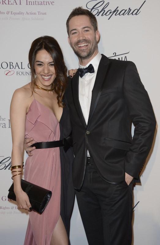 Sofia Essaïdi et Emmanuel Moire lors du Global Gift Gala à Paris, le 13 mai 2013.