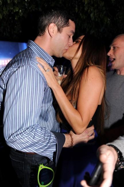 Sofia Vergara et Nick Loeb le 31 décembre 2012 à Miami