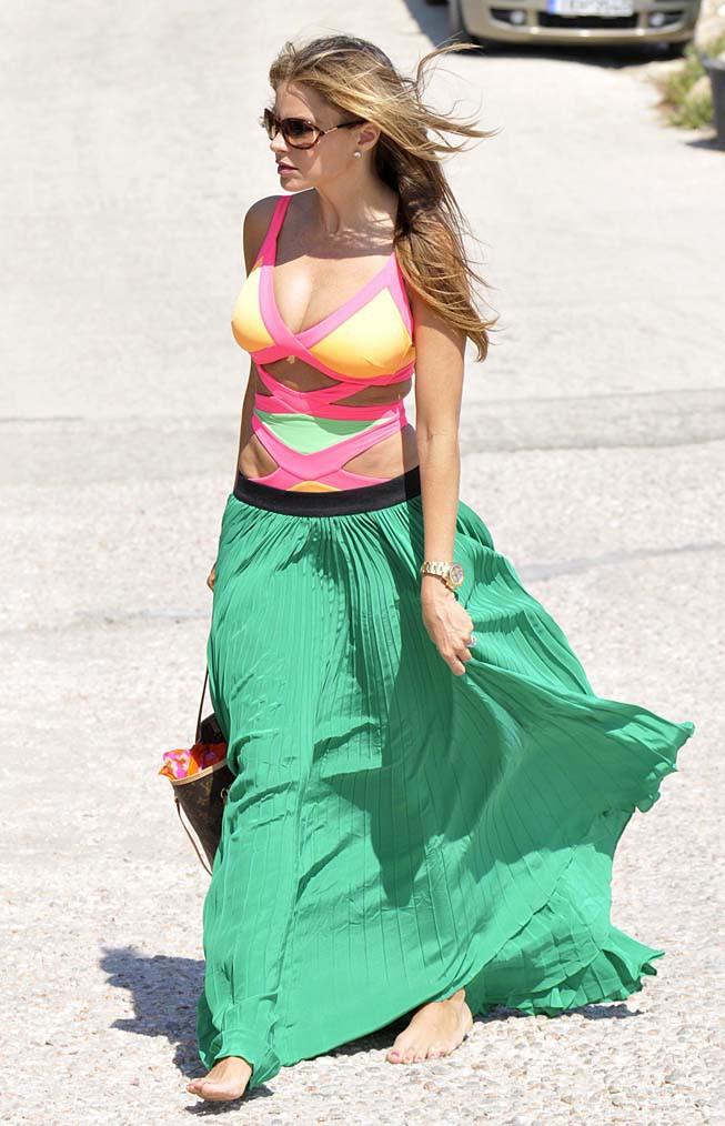 Sofia Vergara à Mykonos le 15 juillet 2013