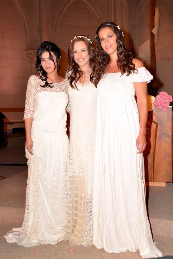 Sonia Lacen (The Voice), Natasha St-Pier et Elisa Tovati en showcase à Paris le 10 avril 2013