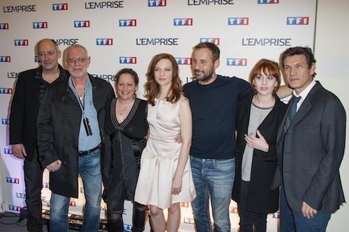 L'équipe du film lors de la projection de l'Emprise, le 21 janvier 2015
