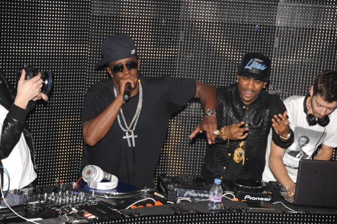 P.Diddy et Big Sean au VIP Room Theater, le 6 mars 2012.