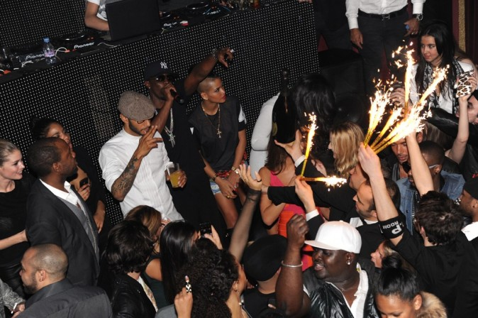 Swizz Beatz, P.Diddy et Cassie au VIP Room Theater, le 6 mars 2012.