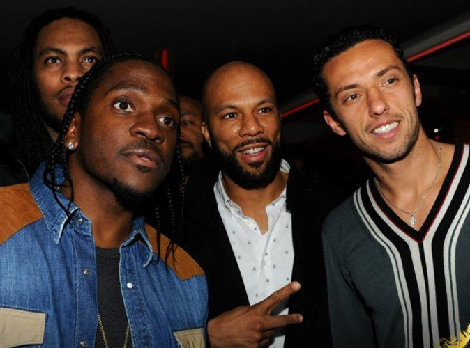 Waka Flocka Flame, Pusha T, Common et Luis Néné lors de la Ciroc Party au VIP Room Theater, le 6 mars 2012.