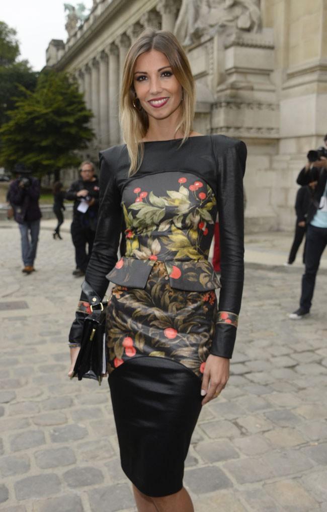 Alexandra Rosenfeld au défilé Leonard organisé au Grand Palais de Paris le 30 septembre 2013