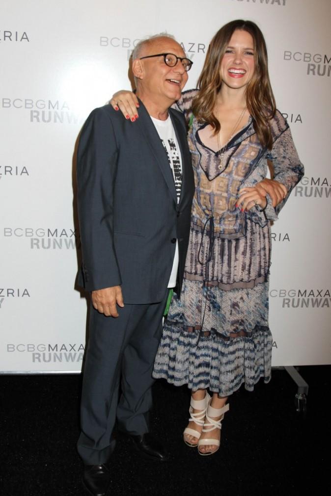 Max Azria et Sophia Bush lors du défilé BCBG Max Azria à New York, le 8 septembre 2011.