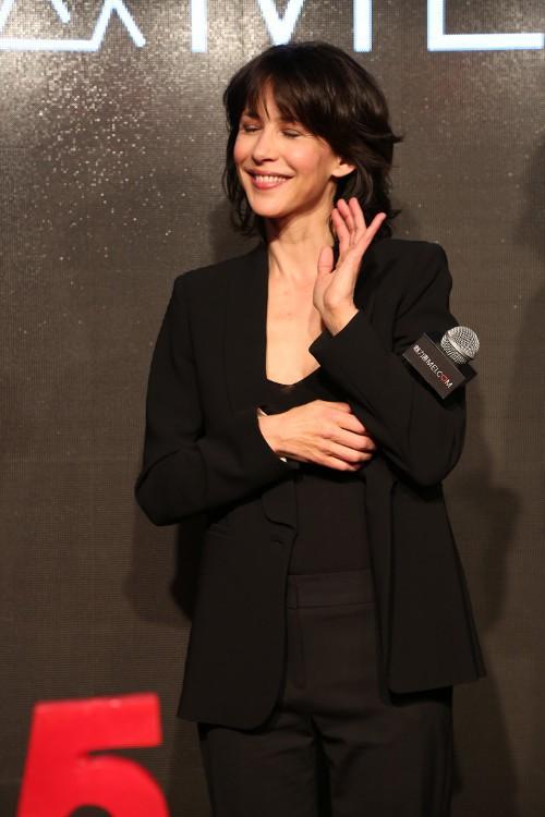 Sophie Marceau à Shangai le 21 avril 2015