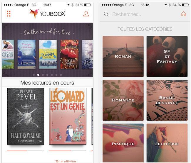 L'application Youboox