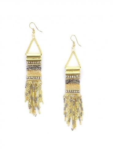 Des boucles d'oreilles pendantes Diwali Paris