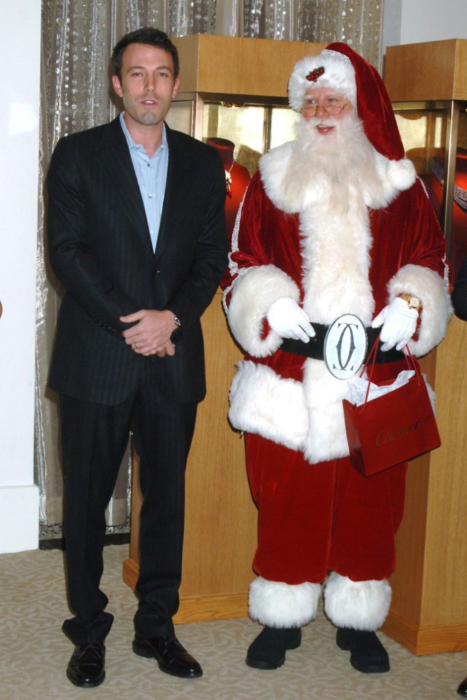 En 2007, Ben Affleck se la joue élève modèle avec le père Noël