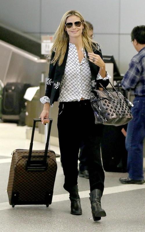 Heidi Klum à l'aeroport de LAX