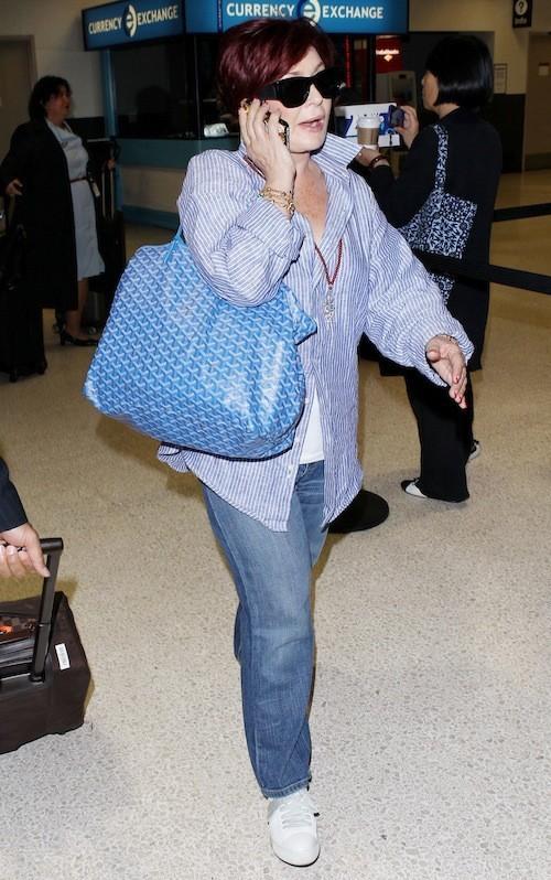 Sharon Osbourne à l'aeroport de LAX