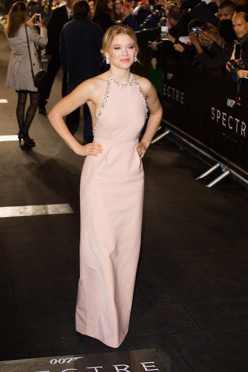 Léa Seydoux à la première de Spectre à Paris, le 29 octobre 2015