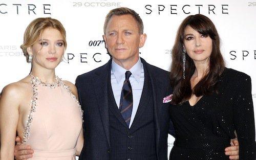 Léa Seydoux, Daniel Craig, Monica Bellucci à la première de Spectre à Paris, le 29 octobre 2015