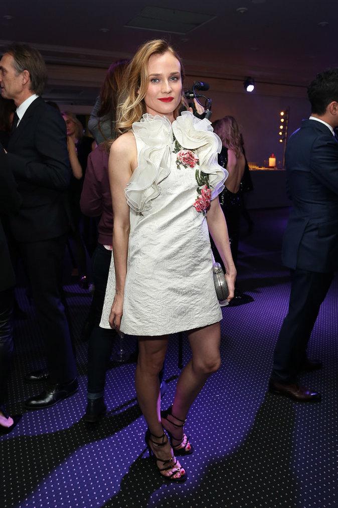 Diane Kruger a misé sur une petite robe blanche