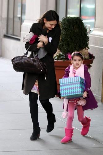 Katie Holmes et Suri Cruise le 3 février 2013 à New York