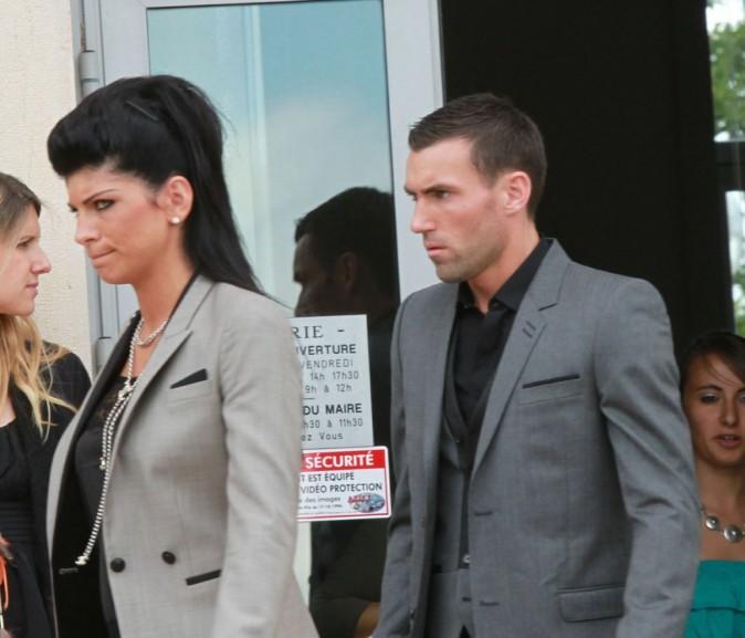 Anthony Reveillere lors du mariage de Sydney Govou et sa compagne Clémence Catherin, le 18 juin 2011 à Replonges.